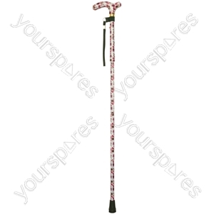 Deluxe Folding Walking Cane  - Colour Rose