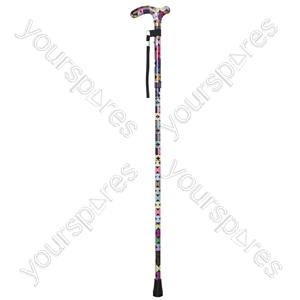 Deluxe Folding Walking Cane  - Colour Sixties