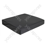 Vinyl Wheelchair Cushion with Memory Foam - Size 457x406x75 mm (18x16x3 inches)