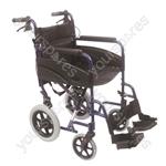 Compact Transport Aluminium Wheelchair - Colour Blue