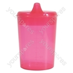 Aidapt Drinking Cup with Two Spouts - Colour Rose Red