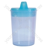 Aidapt Drinking Cup with Two Spouts - Colour Light Blue