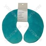 Memory Foam Neck Cushion - Colour Teal Green