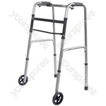 Folding Walking Frame - Configuration Wheeled