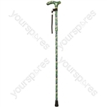 Deluxe Folding Walking Cane  - Colour Peacock