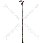 Deluxe Folding Walking Cane  - Colour Mosaic
