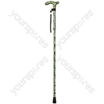 Deluxe Folding Walking Cane  - Colour Camoflauge