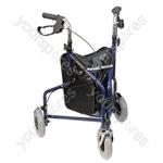 Three Wheeled Steel Walker  - Colour Blue
