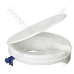 "Senator Plastic Raised Toilet Seat - Size Seat Height: 50 mm (2"")"