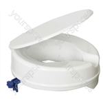 "Senator Plastic Raised Toilet Seat - Size Seat Height: 100 mm (4"")"