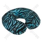 Spare Cover for Blue Memory Foam Neck Cushion - Colour Blue Tiger