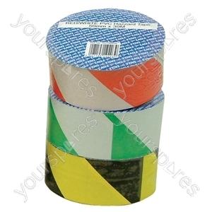 Green/White 50 mm x 30 m Hazard Tape