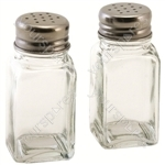 Glass Salt & Pepper Shakers x 2 - Pack of 12
