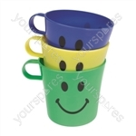 Smiley Face Cups x 3 - Pack of 24