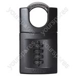 Combination Padlock - Steel - 4 Wheel - 50mm - Closed Shackle