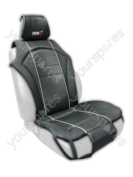 car seat cover multi fit cushioned front single black cu11813 by types. Black Bedroom Furniture Sets. Home Design Ideas