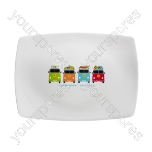 Camper Smiles Rectangular Platter - Pack of 6