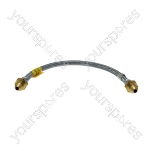 Semperit 20in. Galvanised Steel Straight Through Gas Pigtail Connector - POL x POL