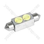 LED Bulb - 12V 11 X 38Mm Wedge High Power-LED - White