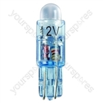 LED Bulb - 12V T5 286-LED - Blue - 5mm