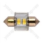 LED Bulb - 12V C5W 6000K-LED (30mm) - Long Life - 30 x 15mm