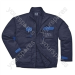 Texo Contrast Lined Jacket - Navy - Small