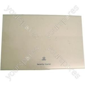 Indesit Fridge Glass Shelf - 472mm x 321mm x 4mm