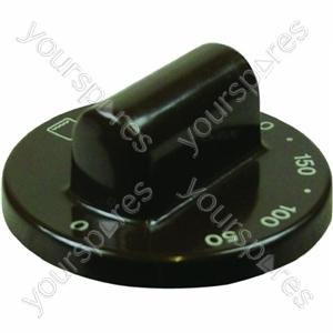 Lower Oven Knob Dark Brown