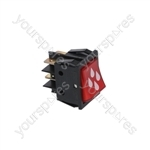 Bfc/Royal Coffee Machine Switch 2-poles Red 16a 250v