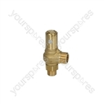 "Bfc CLASSICA /Royal Coffee Machine Boiler Valve ø 3/8""m-1/2""m 1.8 Bar"