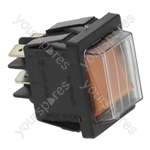 Aristarco/Sammic/Santos/Teikos Dishwasher Bipolar Switch Orange 16a 250v