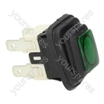 Didiesse/Scotsman Coffee Machine Switch 2-pole Green 16a 250v