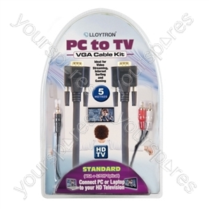 5m PC to TV Cable Kit (Standard VGA)
