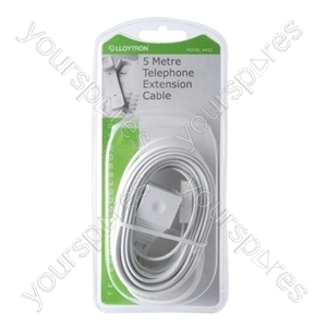 5m Telephone Extension Cable