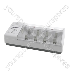 Universal AA/AAA/C/D+9v Battery Charger
