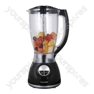 KitchenPerfected 500w 2Ltr Table Blender with Mill - Black
