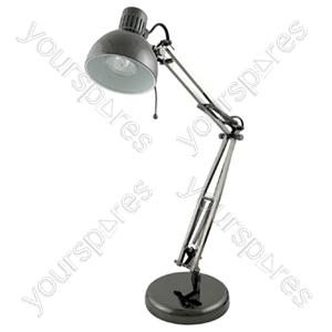 35w 'Studio Poise' Hobby Desk Lamp - Black Chrome