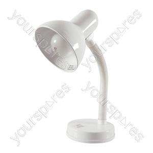 35w 'Classic' Flexi Desk Lamp - White