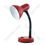 35w 'Classic' Flexi Desk Lamp - Red