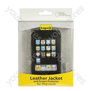 iPod Touch 2g- Leather Jacket & Scn Prot