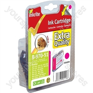 Inkrite NG Printer Ink for Brother DCP130c MFC240c MFC440cn MFC665cw - LC970 LC1000 Magenta (Lion)