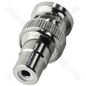 BNC Cinch Adaptor - Adapter Bnc Plug/rca Jack