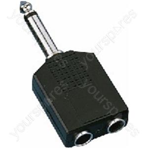 Y-Adaptor 6.3/6.3mm Mono - Adapters