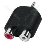 Y-Adaptor 2.5St/Cinch - Rca Adapter