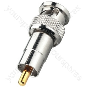 BNC Cinch Adaptor - Adapter Bnc Plug/rca Plug