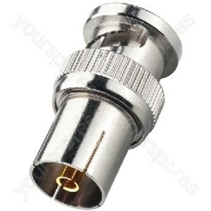 BNC Koax Adaptor - Adapter Bnc Plug/coaxial Antenna Inline Jack
