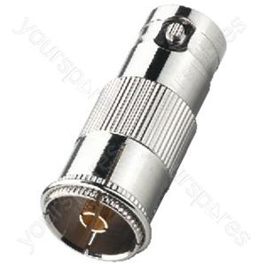 BNC Koax Adaptor - Adapter Bnc Jack/coaxial Antenna Inline Jack