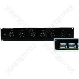 "19´´ PA Attenuator - 6-way Pa Volume Controls For 482mm(19"") Rack Installation"