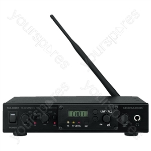 Transmitter Module - Professional 16-channel Mono Pll audio Transmission System, 863-865 mhz, With Extensive Accessories