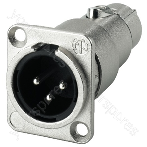 Adaptor - Neutrik Xlr Feed-through Panel Connectors, 3poles